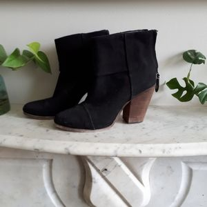 Rag and bone canvas booties